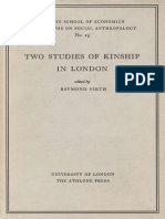 (London School of Economics Monographs on Social Anthropology 15) Raymond Firth (ed.)-Two Studies of Kinship in London-Athlone Press (1956)