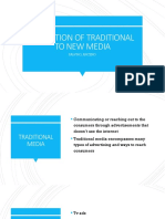 Evolution of Traditional to New Media