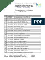 Lista Colação de Grau - Janaúba