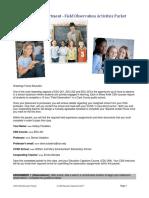 field observation packet edu 201