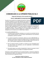 COMUNICADO- 3 - ACUERDOS