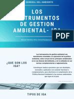 Instrumentos de gestón ambiental