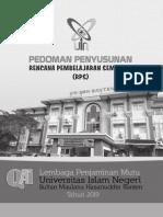 Pedoman Penyusunan RPS UIN Sultan Maulana Hasanuddin Banten Tahun 2019