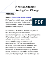 How PBF Metal Additive Manufacturing Can Change Mining