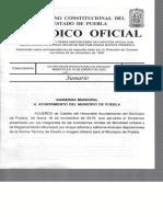 Covián propuso la instalación de los bolardos en Puebla y el Cabildo lo avaló por unanimidad desde el 19 de noviembre (DOCUMENTO)