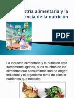 La Industria de La Alimentacion y La Nutrición