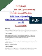 CS619.Database Presentation Question