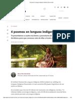4 poemas en lenguas indígenas _ México Desconocido