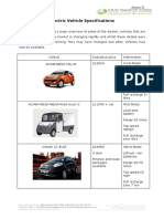 e vehicles specifications