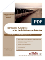 Dynamic Analysis for the Belt Conveyor Industry  by Overland- 1998