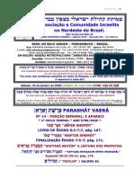 PARASHÁT Nº 14 VAERÁ 1º CICLO ANO 5780.2020.