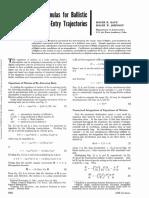 Empirical Formulas for Ballistic Re-Entry Trajectories