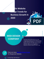Top Six Website Design Trends for Business Growth in 2020
