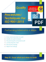 Internal Quality Audit Procedures ppt