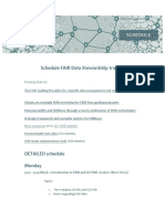 Detailed schedule FDS course
