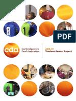 CDA Annual Report 2018-19