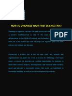How to Organize Your First Science Fair