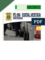 Edital Verticalizado - PC BA - Investigador