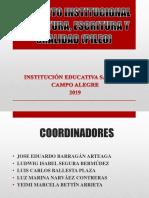 PROYECTO INSTITUCIONAL    DE LECTURA, ESCRITURA Y ORALIDAD