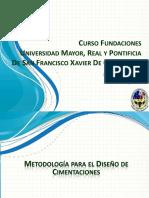Diapositivas Curso Diseño de Cimentaciones Metodologia de Calculo V2015-01-21 Bolivia-2