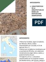 5 CARACTERISTICAS  CONSTRUCCIONES ROMA