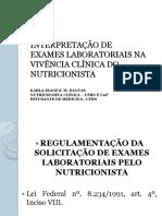 Curso - exames laboratoriais