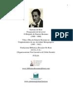 Gastone de Boni - Vida e obra de Ernesto Bozzano no cinquentenário de sua atividade Metapsíquica (1891 - 1941)