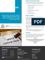 Spent Conviction Fact Sheet