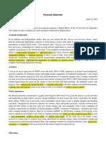 Statement of Purpose (SOP) Example