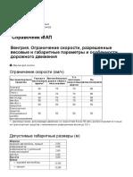 Венгрия. АСМАП - разрешенные весовые и габаритные параметры и особенности дорожного движения