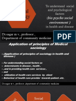 application of principles of sociology in health care