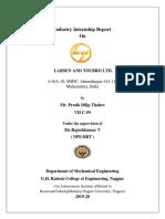 Larsen and Tourbro Intenship Final Report Pratik Dilip Thakre Pratik Thakre G H raisoni college of engineering Nagpur.pdf