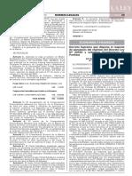Decreto Supremo N° 006-2020-EF