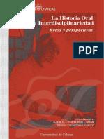 La historia oral y la interdiscplinariedad