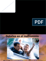 DETALLES EN EL MATRIMONIO