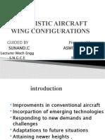 Futuristic Aircraft Wing Configurations Presentation
