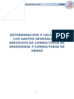 DETERMINACION Y ANALISIS DE GASTO GENERALES EN OBRAS DE CONSTRUCCION
