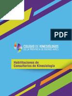 Habilitaciones gabinetes kinesiología
