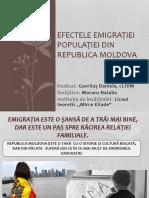 Efectele migrației populației din R Moldova