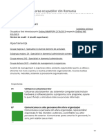 Manager de facilitati -COR 2020 Clasificarea ocupatiilor din Romania