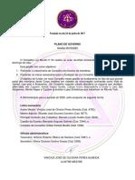 PLANO DE GOVERNO E CALENDÁRIO 2020 CONSELHO LUX MUNDI 54