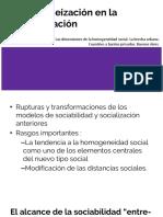 Homogeneización en La Sociabilización