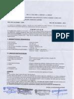 Certificado de Parametros Centro de Chiclayo