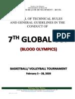 GLOBAL CUP MANUAL 2020