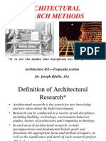 Arch Research Methods