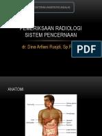 Pemeriksaan Radiologi sist.Pencernaan