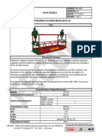 M1-G03 Ficha técnica Plataforma Colgante PC 20