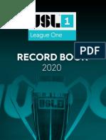 USL League One 2020 Record Book
