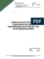 Convivencia Red Subterranea DUCTOS COMUNICACIONES