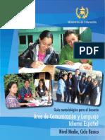 1ero básico Guía Docente Comunicación y Lenguaje Idioma Español